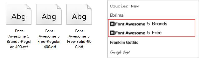 FontAwesome v4.7 & v5.7.2字体图标方案.rplib